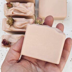 Lavender & rose soap
